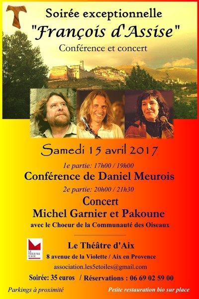 """Soirée inédite conférence+ concert """"François d'Assise"""""""
