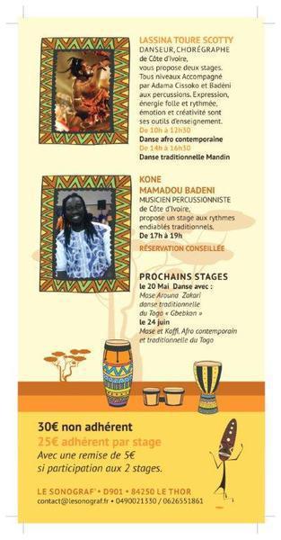 Journée Africaine avec stages de danses , percussion et soirée Afro
