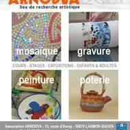 ARNODVA: Stages de printemps poterie, gravure, mosaïque