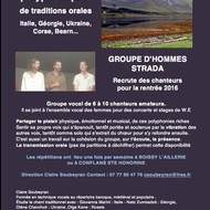 Atelier Hommes Chant Polyphoniques d'Europe Traditions Orales